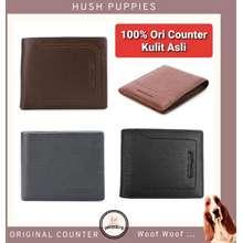 Hush Puppies Hp182 - Dompet Kartu Card Holder Pria Wanita Kulit Original Counter