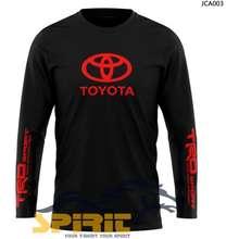 Toyota Terbaru Kaos Baju Pakaian Pria Logo Lengan Panjang Murah S