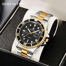 BOSTANTEN 【 Official】 Men'S Watches Steel Belt Dive Sports Quartz Watches (Contains : Box)