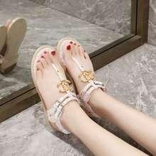 CHANEL Sandal Jepit Flat Desain C Ganda Untuk Wanita