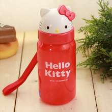 64ac95355 Hello Kitty Face Straw Water Bottle Waterbottle Tablewear Dishware for Kids  bucket