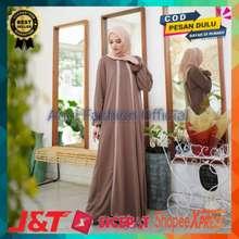 Mybamus Baju Fashion Muslim Wanita Gamis Gantari Line Mocca Original