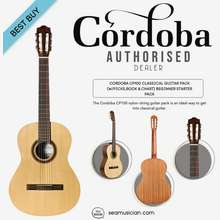 Cordoba Cp100 Classical Guitar Starter Package Come With Picks Book & Chart