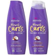 Aussie Miracle Curls With Coconut & Jojoba Oil, Paraben Free Shampoo 360Ml