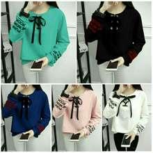 LUNA sw baju wanita atasan blouse kemeja top hem kaos sweater babytery 7382767a87