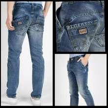 CELANA JEANS PRIA CELANA LOIS JEANS PRIA/jeans pria celana panjang promo termurah (Pinggang:32, Light blue)