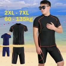 Ready Stock Plus Size Swimsuit Men Professional Swimwear Adult Split Swim Pants Five Point Sunscreen Speed Drying Suit