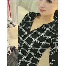 kedai_baju Atasan Wanita / Blouse Murah Kemeja Yuumi Hitam