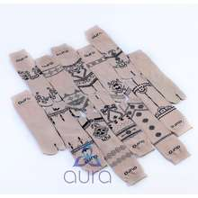 Aura [Original] 12 Pasang Kaos Kaki Jempol Nylon Motif Henna Merk