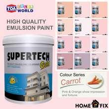 TOA Paint TOA Supertech Gold Interior Paint Carrot Colour Series 5 Litres (8092 Pink Mist, 5L)