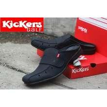 Kickers Terbaru sandal pria musim panas ukuran Biasa hitam Sandal Jepit pria  Kulit asli anak muda 3ee662bc2a