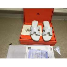 Hermès Women'S Models Flat Shoes Leather Slippers Sandals H02
