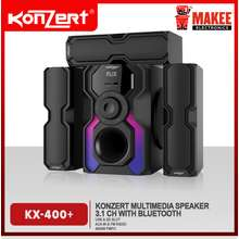 Konzert KX-400+ Bluetooth Multimedia 3.1 Speaker 4000W PMPO