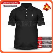 Nike Dry Fit Tw Microfiber Polo T Shirt Tiger Wood Ball Iron Pga Tour Swing Wedge Putter Sand Rescue Driver Masters