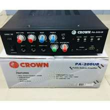Crown Pa-Public Address Amplifier Pa-200Ub 200Watts Bluetooth Usb Siren