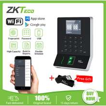 ZKTeco Biometric Fingerprint Time Attendance Machine WIFI Time Recorder Flexible Schedule Auto Accurate Hours Calculations Checking-in/out USB Reader Software APP iOS Android W2(Upgraded)