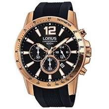 LORUS (Special Price With One Year Warranty ) By Seiko Watches Mens Analogue Quartz With Silicone Bracelet Rt356Ex9