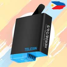 Telesin GoPro Hero 5 GoPro Hero 6 GoPro Hero 7 GoPro Hero 8 Replacement Rechargeable Battery