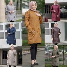 Hijacket Jaket Jacket Panjang Wanita Cewek Cewe Muslimah Hijabers Hijaket Kekinian Terbaru Hj Blv