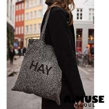 HAY [] Cotton Bag / Dot, Stripe, Check / 3 Types / Eco Cotton Bag / Shipping From Korea