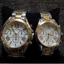 d6a878600dfe Michael Kors Couple Watch Silver with Gold