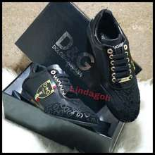 D&G Produk Murah Jual Sepatu Sneaker Mirror Quality Shoes Dolce Gab Bana Dg Pria Lv Produk Laris