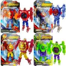 captain america Jam Tangan Robot Avanger Spiderman Hulk Iron Man Spiderman