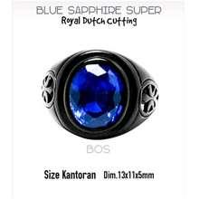 Sapphire Boombastis Harga Exotis...Super Blue Dutch Cutting...Ring Black Titanium Super