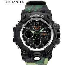 BOSTANTEN Jam Tangan Digital Tahan Air Pria Jam Tangan Olahraga Original Pria Wristwatch-2052K
