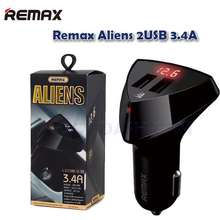 Remax Aliens 2 Usb 3.4A Car Charger Rcc208 With Voltage Meter