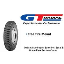 Gajah Tunggal 750-16 14Pr Gt Lug (Lug Type) Truck Tire With Inner Tube And Flap (Set)
