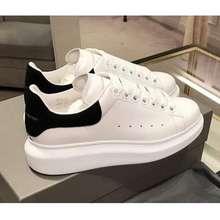 Alexander Mcqueen Original Mcqueen Little Shoes Women Shoes Leather Black Heighten