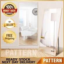 Pattern Full Length Stand Mirror Standing Cermin Tinggi Besar Modern Nordic Tall Mirror 150X37Cm Ootd Hanging Full Body