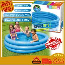 INTEX Corp. Crystal Inflatable Blue Pool (1.68m) Kolam Renang Karet Pompa Anak