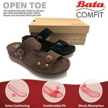 Bata Women Comfort Wedges Soft Bottom Sewing Sole Lighweight Fashionable Latest Design