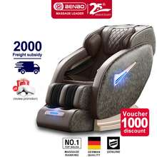 BenBo ph Full Body automatic massage chair fullbody massage mat pad cushion accent chair massager for back pain Shoulder Cervical Neck foot pain Massager chair for whole body bed Pillow racking relaxing chair sofa bed ogawa massage chair sale machine