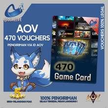 Garena Voucher Arena of Valor (AOV) 470 Kupon Voucher