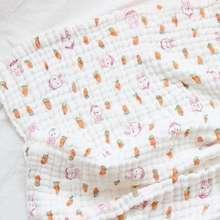 Bamboo Parishkids 6 Layer Muslin Baby Blanket Selimut Bayi 6 Lapis Rabbit