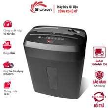 Máy Hủy Giấy,Tài Liệu Silicon Ps-200C ( Hủy 10 Tờ/Lần A4, Hủy Sợi Nhỏ 4*35Mm, Thùng Giấy 18L, Hủy Cd,Fvd, Card)