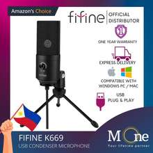 Fifine K669B Usb Microphone Condenser Pc Microphone Vlogging Streaming Microphone M One Enterprise