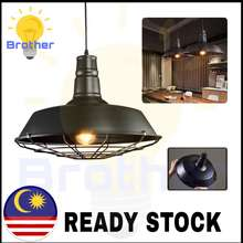 NSB Pendant Light Retro Style Modern Pendent Light Hanging Celling Light Decorative Black Frame Cafe Light