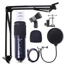 OKER ไมโครโฟน คอนเดนเซอร์ ไมโครโฟนอัดเสียง อัดเพลง ไมโครโฟน คอมพิวเตอร์ ไมค์ แคสเกม ไลฟ์สด ร้องเพลง เสียงดี MIC-2020 Microphone Condensor USB