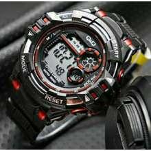 QQ ASLI REALPICT!!! Men Sport Watches Military Dive Men Sport Led Digital Watches Waterproof Bajan Kol Saati Relogio Watch - intl