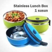 Vuvida Lunch box Rantang susun 1 stainless steel - biru