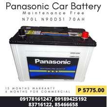 Panasonic Maintenance Free Car Battery (N70L N90D31) (15 Months Warranty)