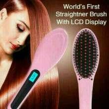 SALE Fast Hair Straightener Sisir Catok Pelurus Rambut HQT-906 - Pink 13c37136d4