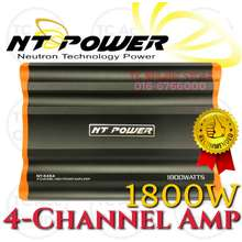 NT POWER Car Amplifier 1800Watts 4-Ch Channel Nt-5454 Car Power Amp Suitable For Car Speaker And Woofer