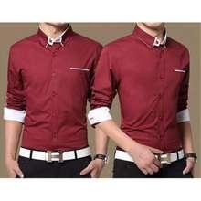 Azure Roy Top - Maroon / atasan pria / kemeja pria / kemeja polos / pakaian
