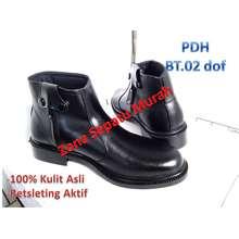 B2R Sepatu Pdh Kulit Asli seri BT-02 Standar Tni-Polri Best Quality (EU:39, Hitam)