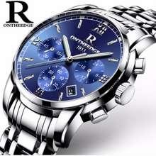 ONTHEEDGE Đồng hồ nam RZY026 dây đúc đặc chạy Full kim (Fullbox hãng) (Blue)